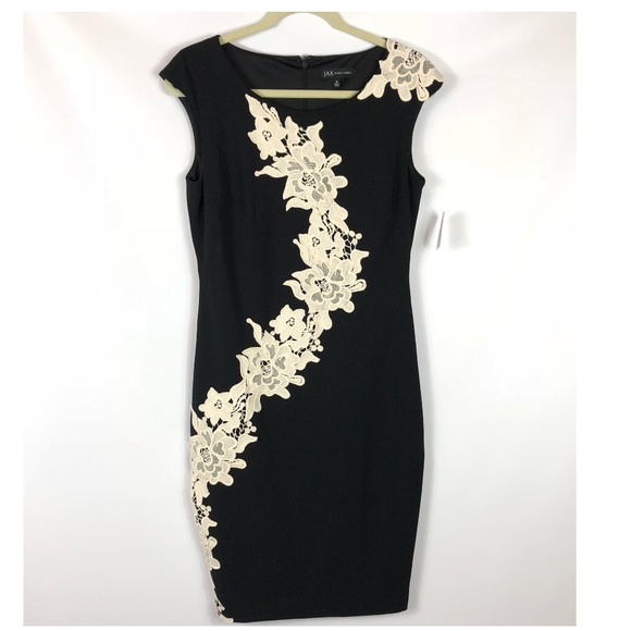 2b29ff6d JAX Dresses | Nwt Black Label Floral Lace Sheath Dress Sz 8 | Poshmark